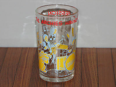 Vintage Archies Drinking Glass Archie Comics 1971 Hot Dog Betty Veronica Jughead