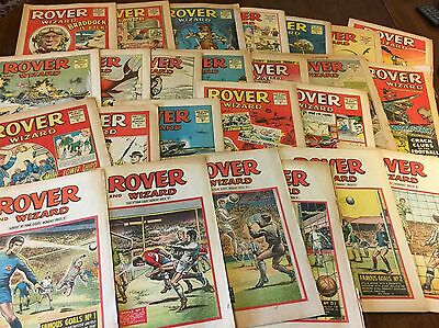 25 Issues Of The Rover And Wizard Comics - 1967 - 1968