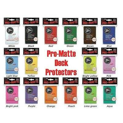 Deck Protectors Card Sleeves Ultra Pro Pro-Matte 50Ct Standard Magic Mtg Size