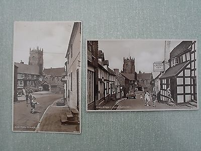 Postcard Real Photograph Claverley Shropshire England Children Playing in Street