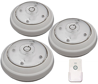 Rite Lite LPL623WRC 5 Led Puck Light with Remote, 3-Pack
