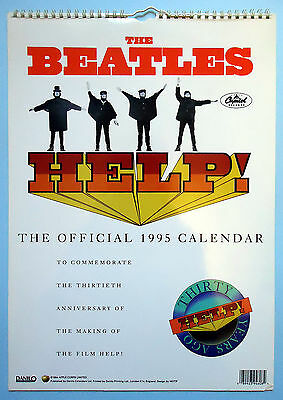 VINTAGE BEATLES OFFICIAL 1995 CALENDAR 30TH ANN FILM HELP Danilo & © Apple