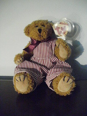 TY~attic~Dexter Beanie Bear~1993~jointed style~6009~beautiful condition~ w/tag