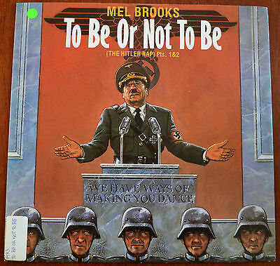 "Mel Brooks – To Be Or Not To Be (The Hitler Rap) Pts. 1&2 12"" – 12 IS 158 – VG+"