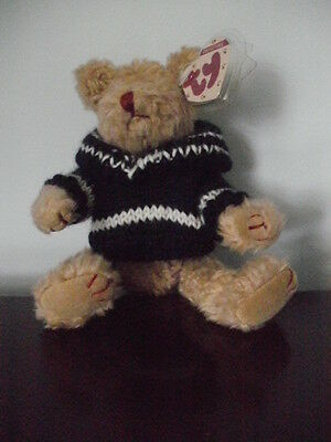TY~attic~Fraser Beanie Bear~1993~jointed style~6010~beautiful condition-mwmt