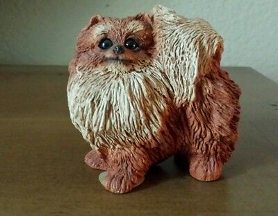 Stone Critters Red Pomeranian Puppy Dog Pet Figurine Sculpture Decor Resin USA