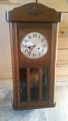 Antique German Wall Clock with Chimes.