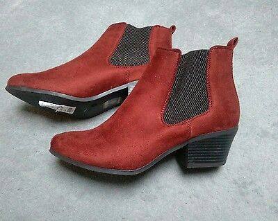 Size 6 New Look red ankle boots BRAND NEW