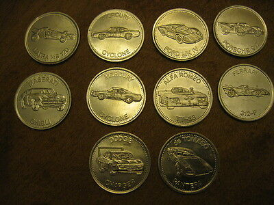 Vintage 1972 SHELL Hot Wheels Coin Lot of 10