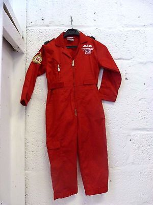 Children's Red Coveralls/Boilersuit Red Arrows RAF Costume Age 6-7