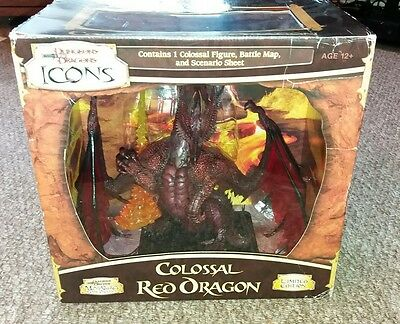 dungeons and dragons d&d  miniatures icons colossal red dragon (boxed)