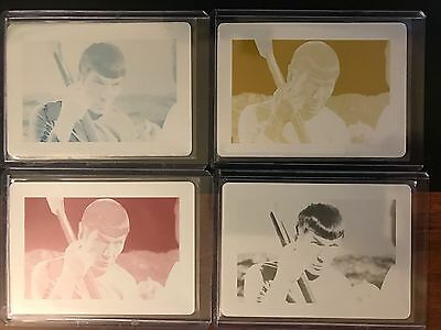 2017 STAR TREK 50TH ARCHIVE Box Exclusive Set 4 Printing Plate Card #19 Spock