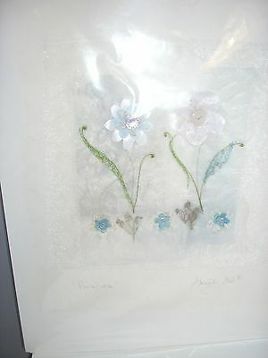 """New Original Abigail Mill Embroidery """"Periwinkle"""", 40.5 cm x 51cm"""