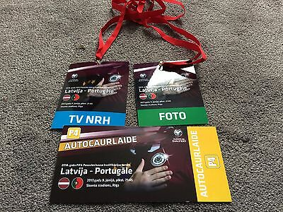 Latvia v Portugal- June 2017- World Cup Russia 2018 Qualifier- media passes