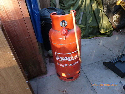 Calor Gas 19 kg Bottle (Empty?) Regulator & Pipe Barbecuing Camping, PROPANE