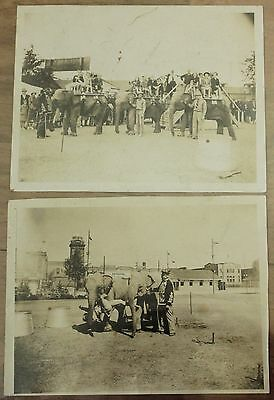 2 Antique Photographs By G. Hollies - 1938 - CNE Canadian National Exhibition
