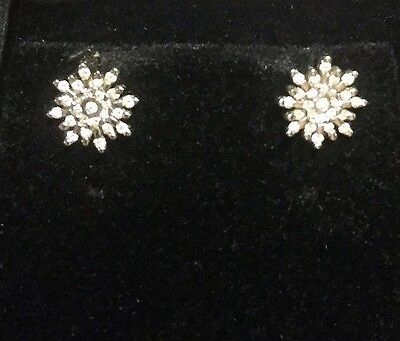 Diamond Starburst 18ct white gold earrings