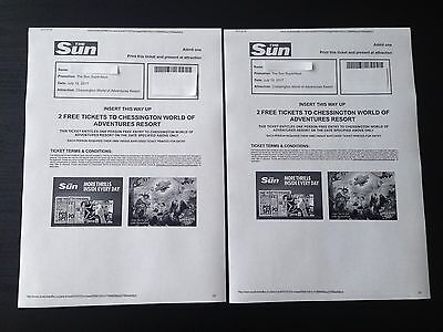 2 Chessington World of Adventure Tickets for Wednesday 19th July 2017 (19/07/17)