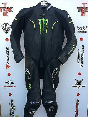 Alpinestars Monster Energy One Piece race leathers with hump uk 42 euro 52
