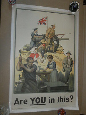 Original British Recruiting Poster by Baden-Powell, Are You in This. PRC no. 112