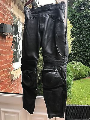 J&S Mens Leather Motorcycle Trousers