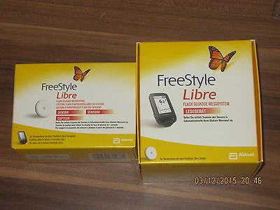 FreeStyle Libre Starter Pack Kit Set mmol/l NEW Reader+Sensor WORLDWIDE SHIPPING