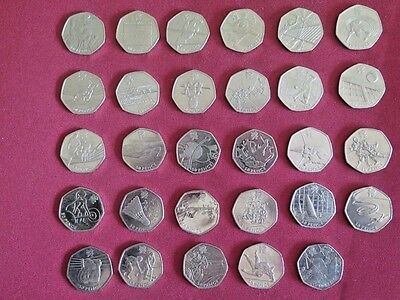 Olympic 50p Coin Collection / London 2012 / Complete set of 29 coins dated 2011