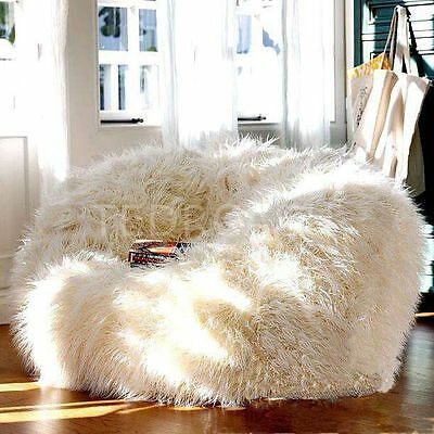 FLUFFY BEAN BAG Chairs for Adults Kids Sofa Couch Cover Plush ... 7e73886421083