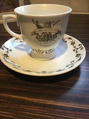 HENDRICKS GIN TEA CUP and SAUCER limited edition-new ☕️