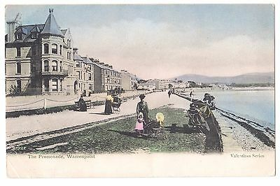 Old Postcard 'The Promenade' Warrenpoint Co Down 1909