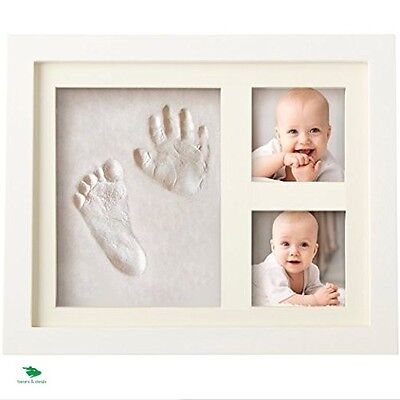 Baby Footprint Frame Babyprints Hand Print Kit Clay Imprint Foot Casting Mould