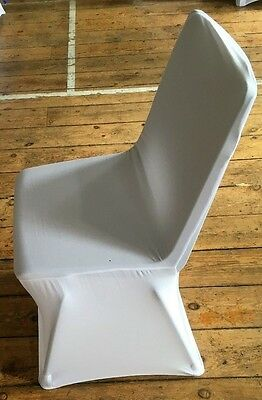 SPANDEX / LYCRA CHAIR COVER WHITE  COVERS BANQUET WEDDING PARTY x 50