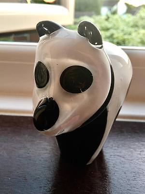 Wedgewood Glass Panda Paperweight - NEW - Rare and Collectable