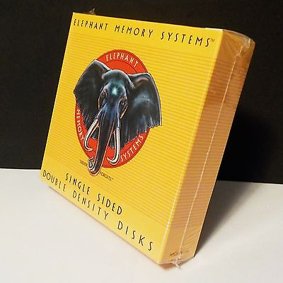 "Vintage Elephant Memory Systems Floppy Disk 5.25"" SSDD Sealed"