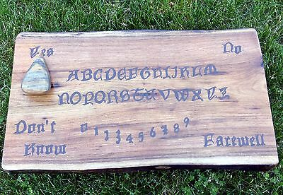 Ouija Board Wood Wooden Pagan Wiccan Spirit Game Ghost Hunting Occult Witchcraft
