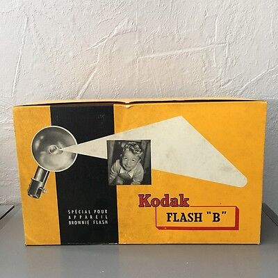 Accessoire Vintage KODAK FLASH B Appareil photo Brownie photographie lumiere E