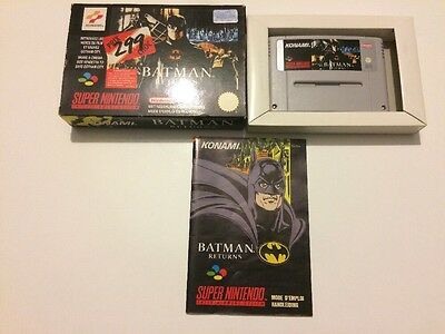 Jeu Super Nintendo SNES Batman Returns FAH complet