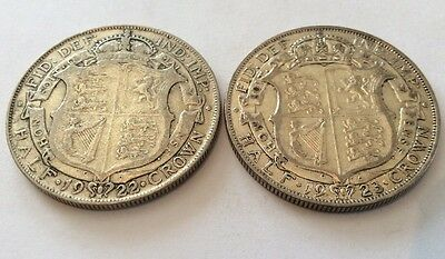 George V Halfcrowns 1922 & 1923