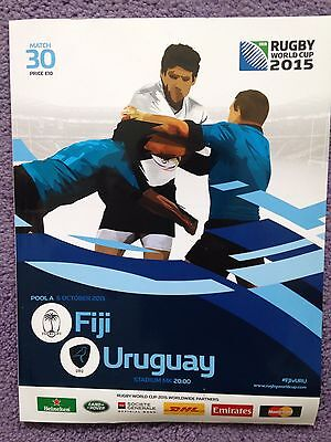 FIJI v URUGUAY RUGBY WORLD CUP 2015 OFFICIAL PROGRAMME, 6 Oct Milton Keynes