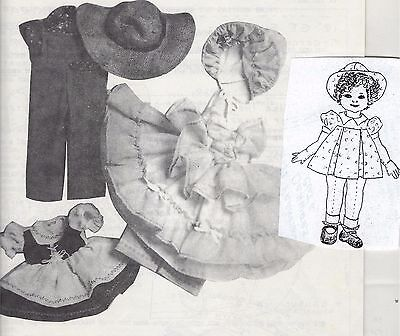 "18""cloth/soft Sculpture Shirley Temple Doll&dress&hat Pattern"