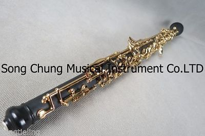 Great composite wood concert semiautomatic oboe,gold-plating C key #7779