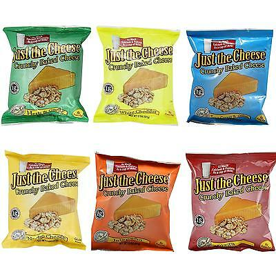 NEW Just the Cheese Snack Rounds Variety 6PK White Cheddar Jalapeno Nacho Pizza