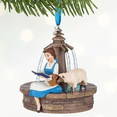 Disney Belle Singing Sketchbook Christmas Ornament, Beauty & The Beast, Bnwt