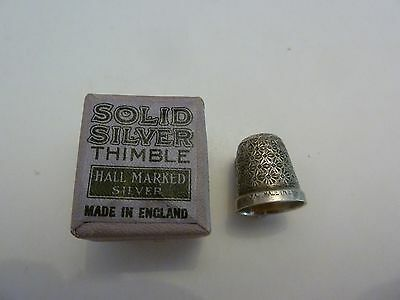 Vintage Sterling Silver Thimble Henry Griffiths & Son, The Spa Size -14 + Box