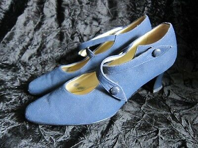 Vintage Blue Buckle Shoes size 6