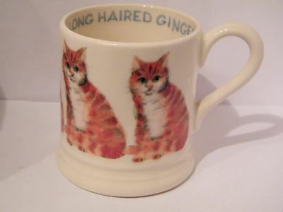 Emma Bridgewater ,long Haired Ginger Cat, 1/2 Pint  Mug