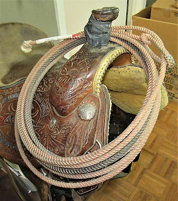 "31' FAST BACK ""MACH III"" LARIAT HEAD ROPE marked XXSOFT~USED WESTERN TACK"