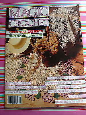Magic Crochet Magazine #38 Grapes Doilie Irish Roses Bedspread Filet Patterns