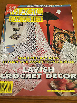MAGIC CROCHET #97 PATTERN MAGAZINE  1995 Doilies Filet