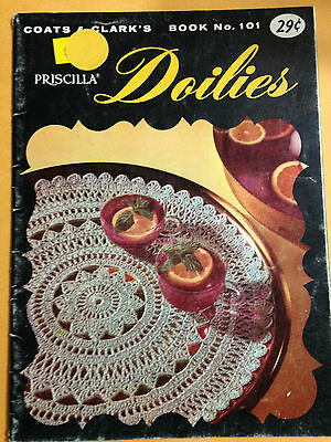 VTG Coats & Clark's Doilies Booklet #101 Crochet Ruffled Tatted Patterns